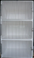 Dog Hospital 3 cage unit, 3 x Medium A cages, Cage Solutions by Richmond Fibreglass