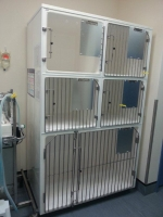 Recovery 3 cage unit, 1 x Double C cage, 4 x Small A cages, Cage Solutions by Richmond Fibrglass
