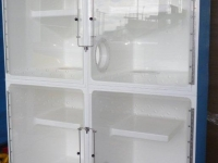 Recovery 4, 4 x Medium B cages with shelves and lockable port holes, Cage Solutions by Richmond Fibrglass